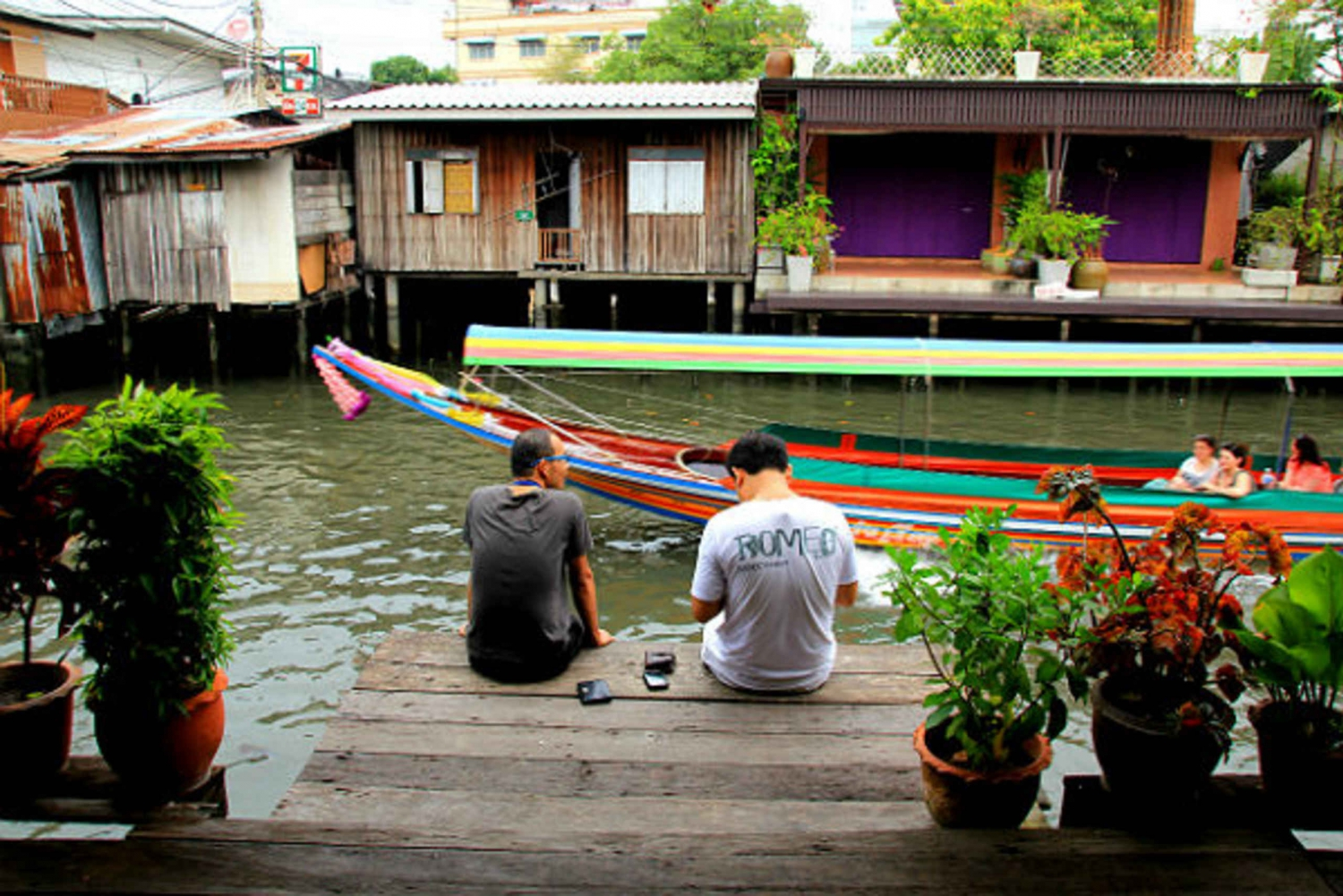 Bangkok's Past with Local Taste Tour by Bike & Boat