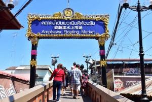 From Bangkok: Amphawa Floating Markets and Firefly Boat Tour
