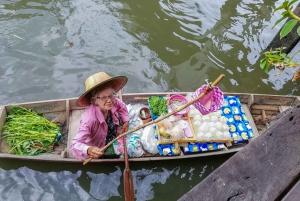 From Bangkok: Damnoen Saduak & Train Market Tour in Spanish