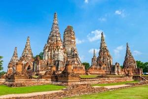 From Bangkok: Floating Market and Ayutthaya Tour in Spanish