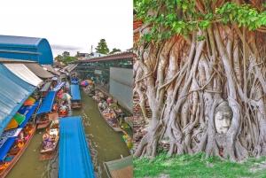 From Damnoen Saduak & Ayutthaya Combination Tours