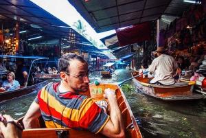 Grand Palace, Damnoen Floating Market & Maeklong Market Tour