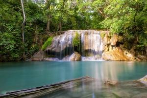 Kanchanaburi & Erawan Waterfalls Spanish Tour