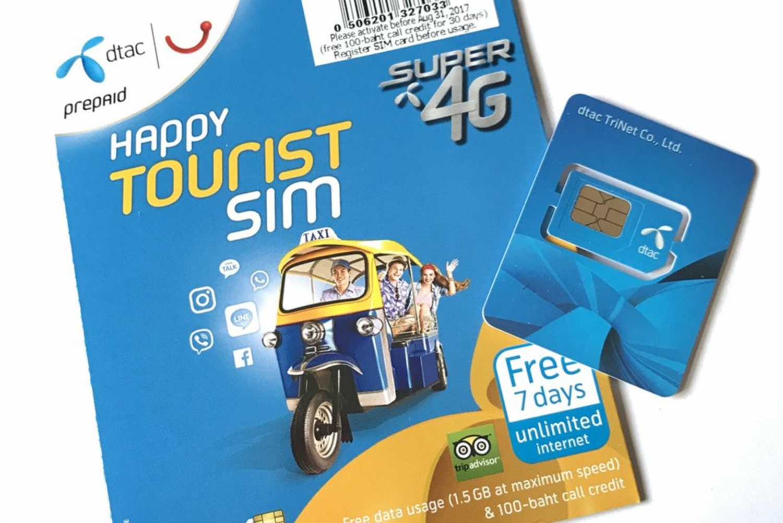 Thailand, Don Muang Airport: 4G 8-Day SIM Card