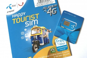 Thailand, Don Muang Airport: 4G 8-Day SIM Card
