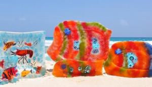 Tropical Art Glasses