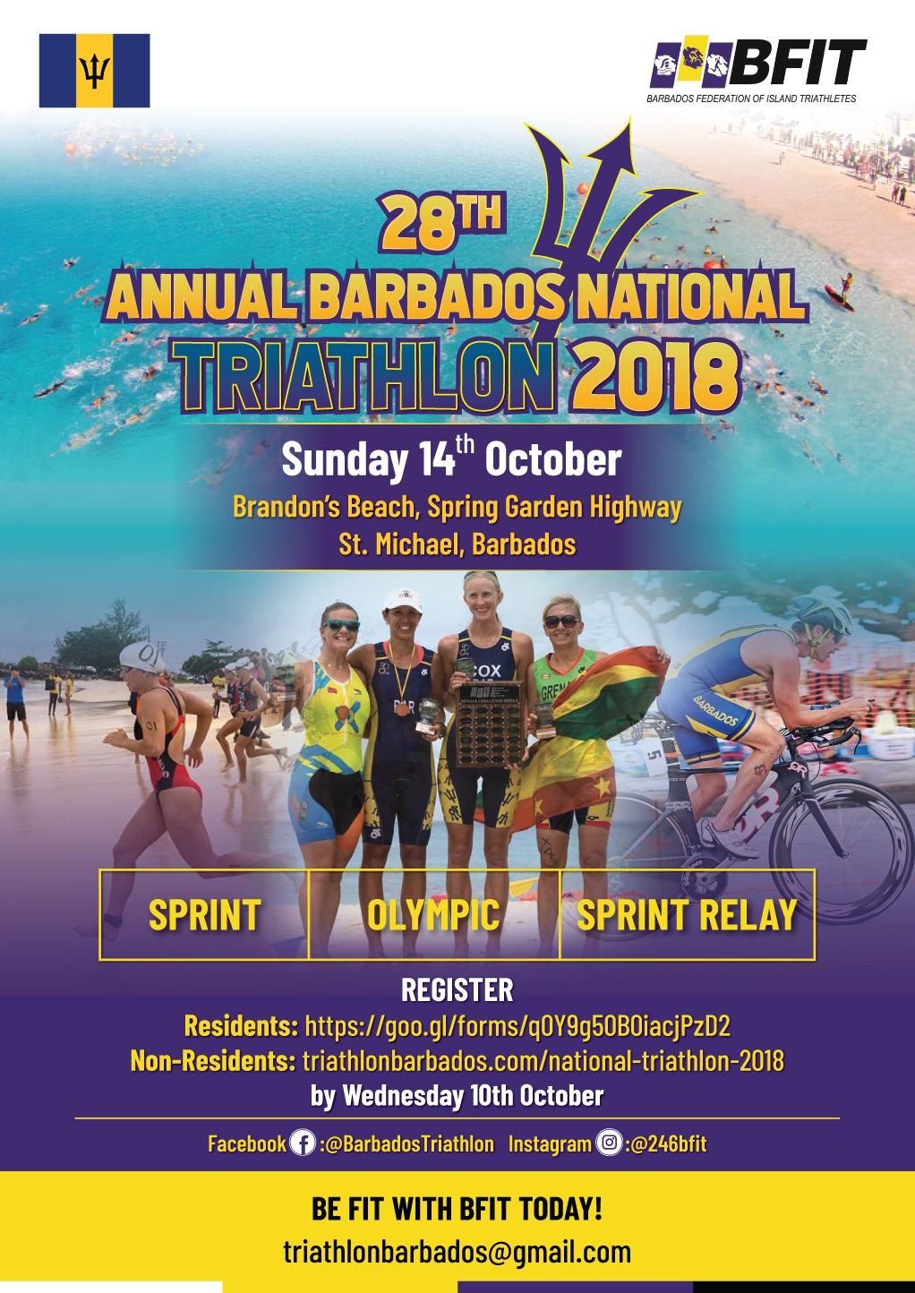 28th Annual Barbados National Triathlon Championships 2018