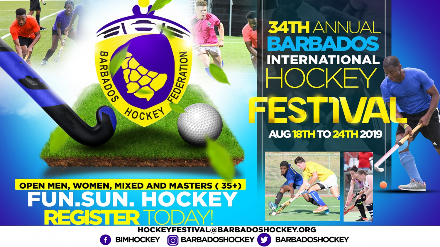 The 34th Annual Barbados International Hockey Festival 2019