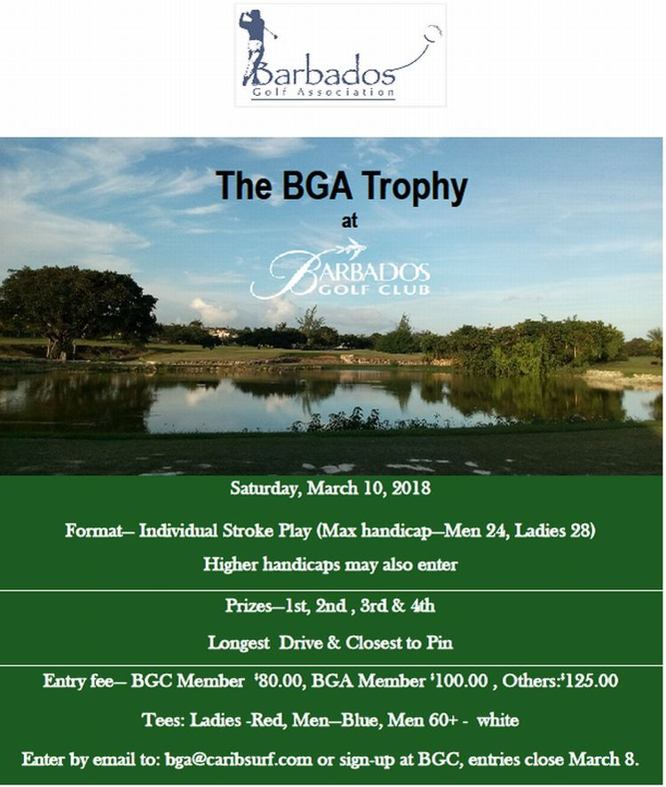 BGA Trophy at the Barbados Golf Club