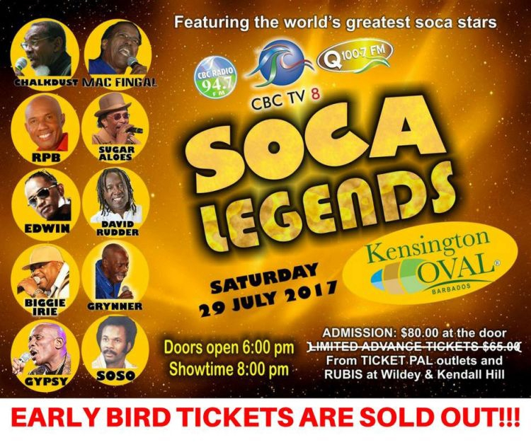 Crop Over Festival - Soca Legends in Concert