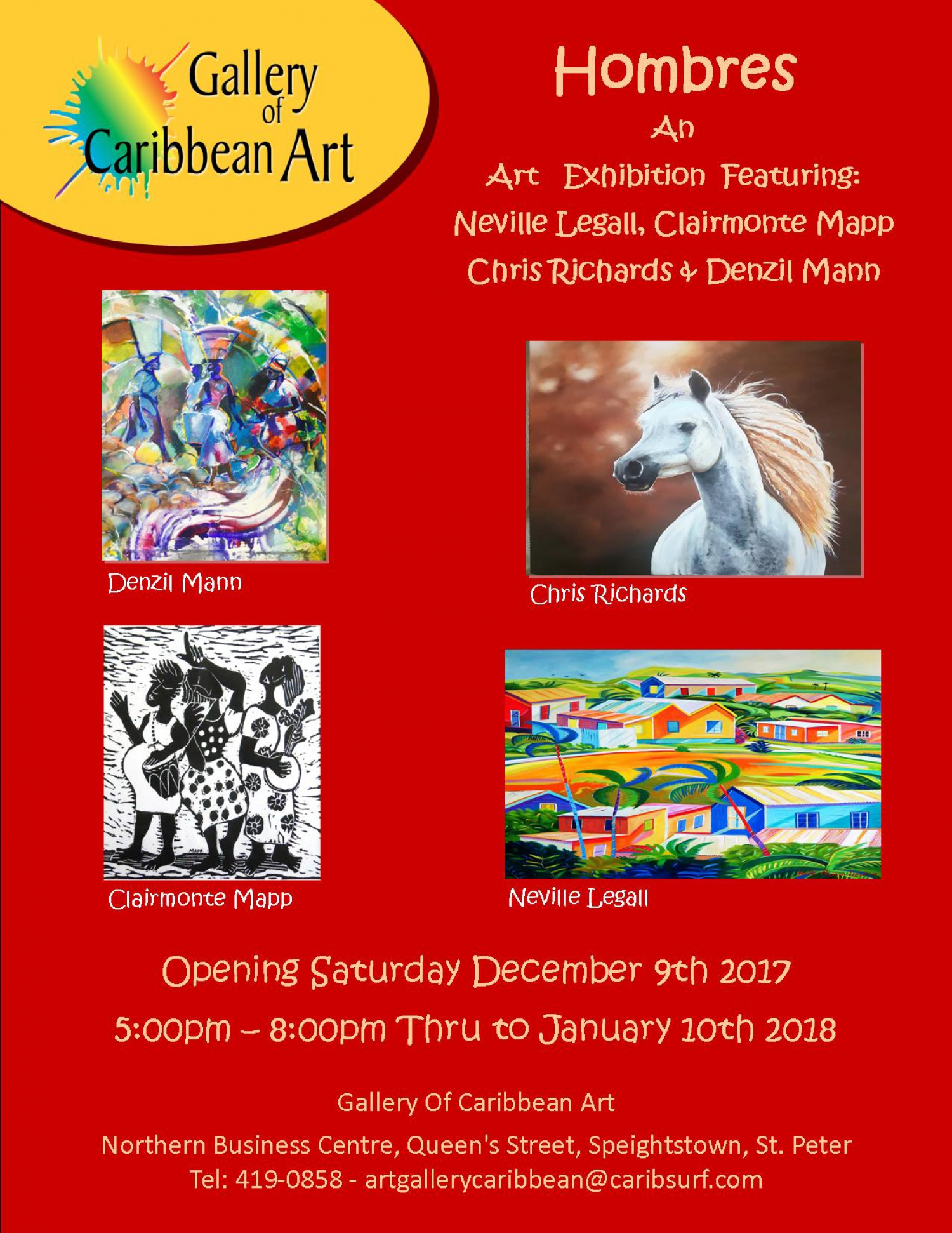 Gallery of Caribbean Art - January 2018 Male Group Show
