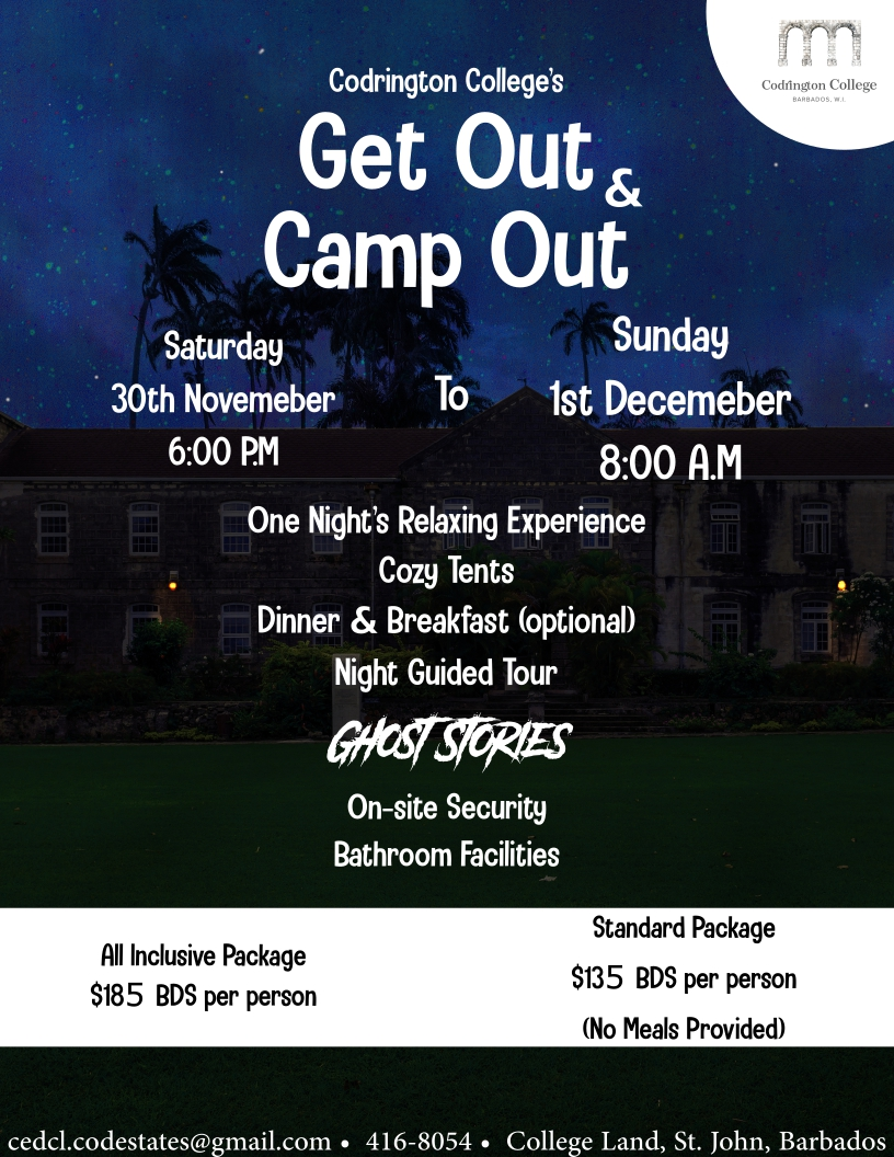 Get Out and Camp Out at Codrington College