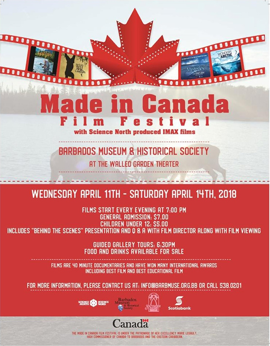 Made in Canada Film Festival at the Barbados Museum