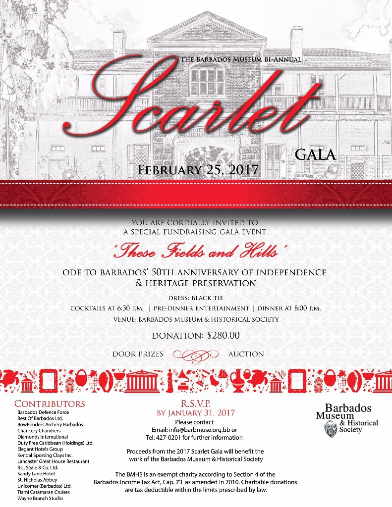 The Barbados Museum's Scarlet Gala 2017