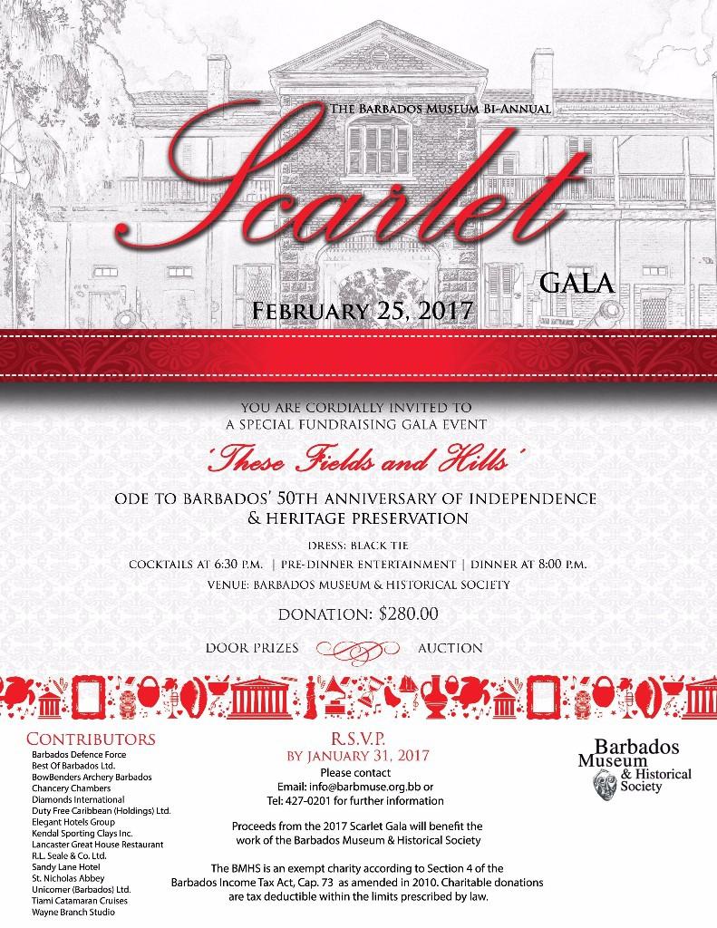 The Barbados Museum's Scarlet Gala 2017