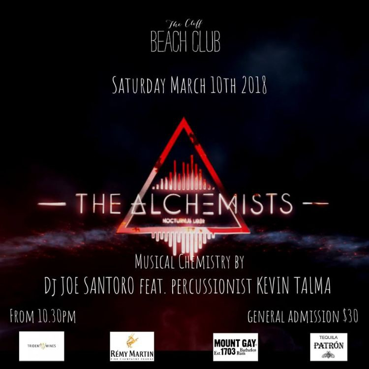 The Cliff Beach Club presents The Alchemists