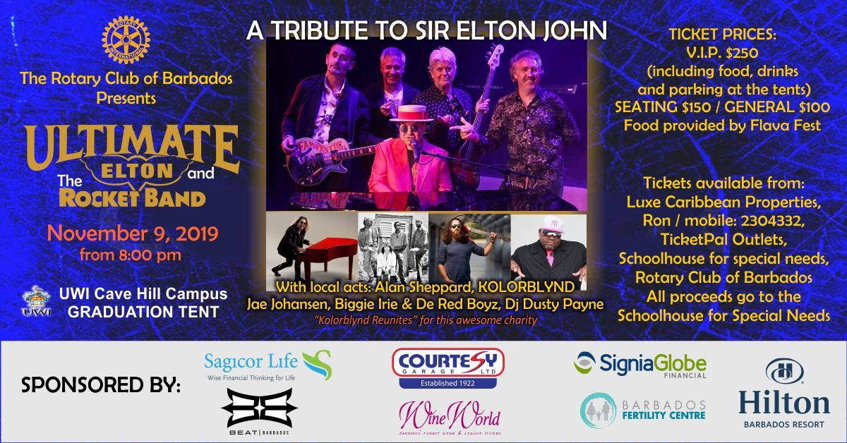 Ultimate Elton & The Rocket Band Fundraising Concert