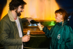 Barcelona Bike Tour by Night with Cava and Fountain Show