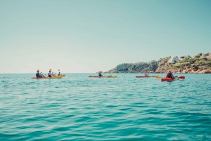 From Barcelona: Sitges Kayaking and Snorkeling Trip