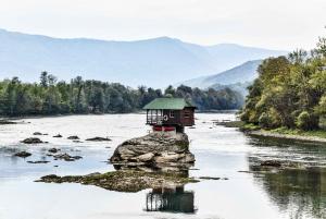 From Drina River House, Sargan 8 Train & Drvengrad