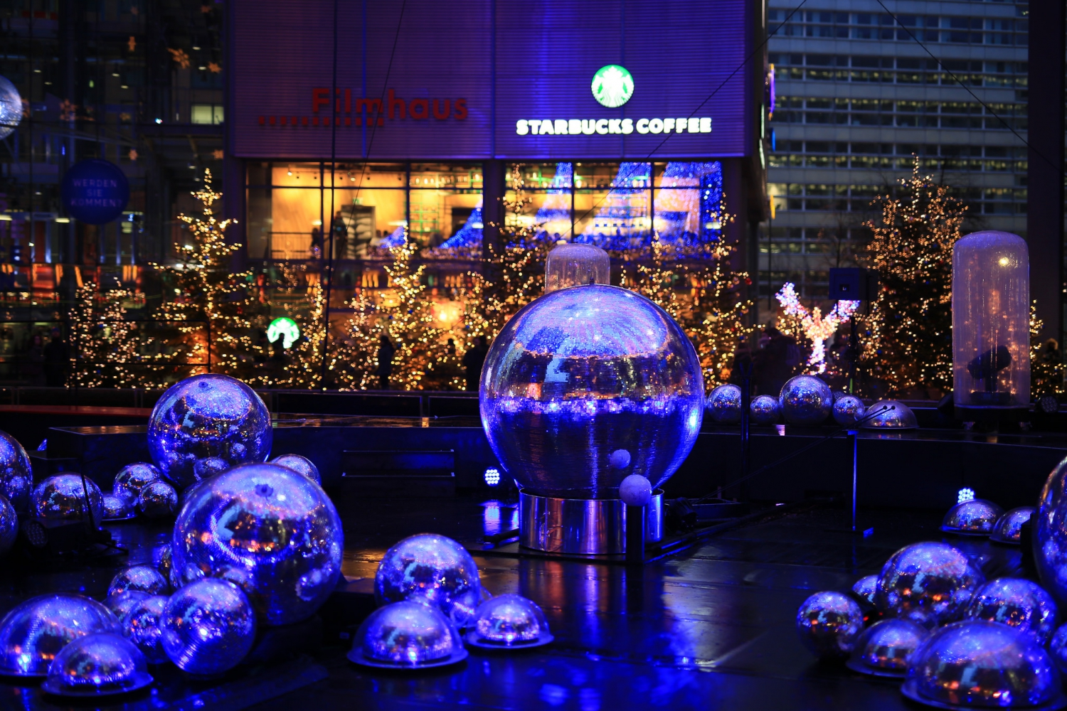 Christmas market at the Sony Center
