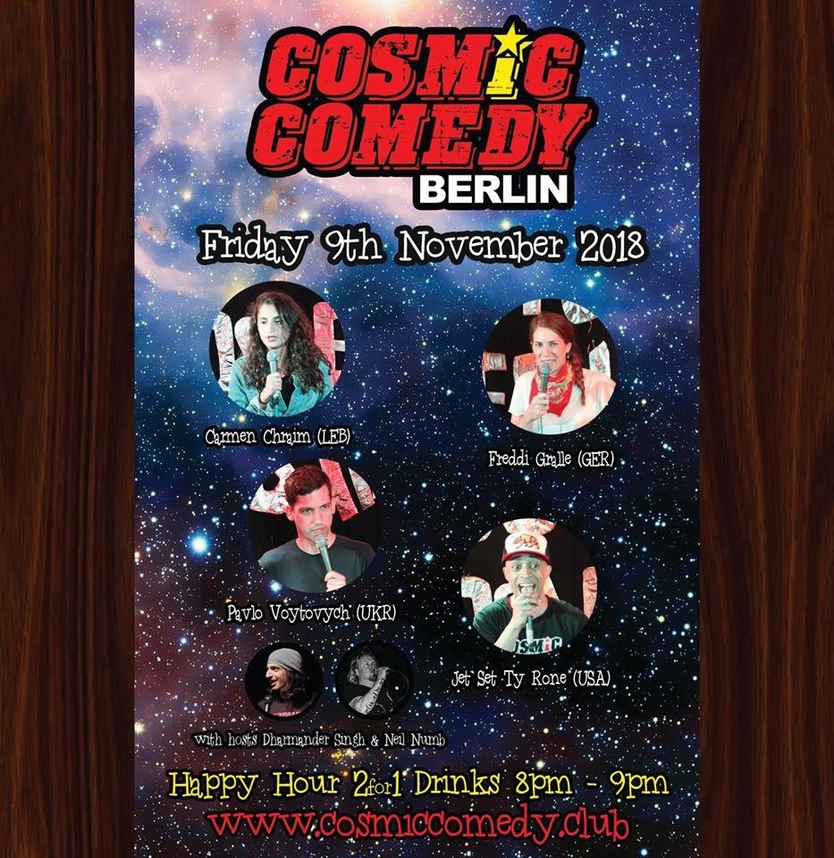 Cosmic Comedy Showcase with Free pizza & shots