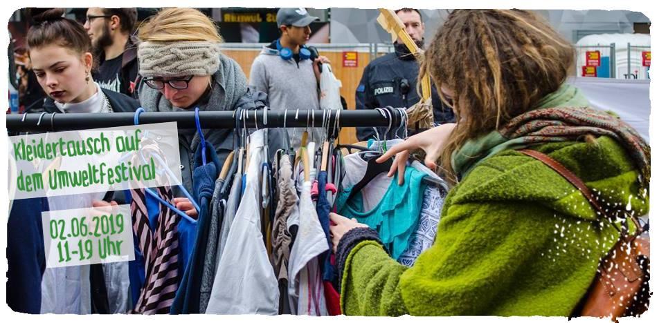 Kleidertauschparty auf dem Umweltfestival
