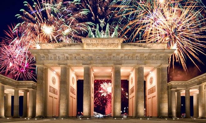 New Years Eve 2018 at the Brandenburg gate