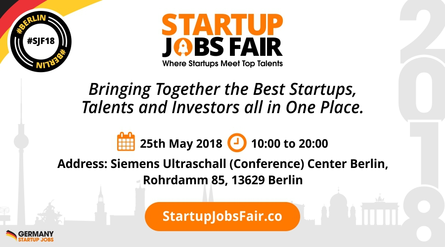startup jobs fair my guide berlin. Black Bedroom Furniture Sets. Home Design Ideas
