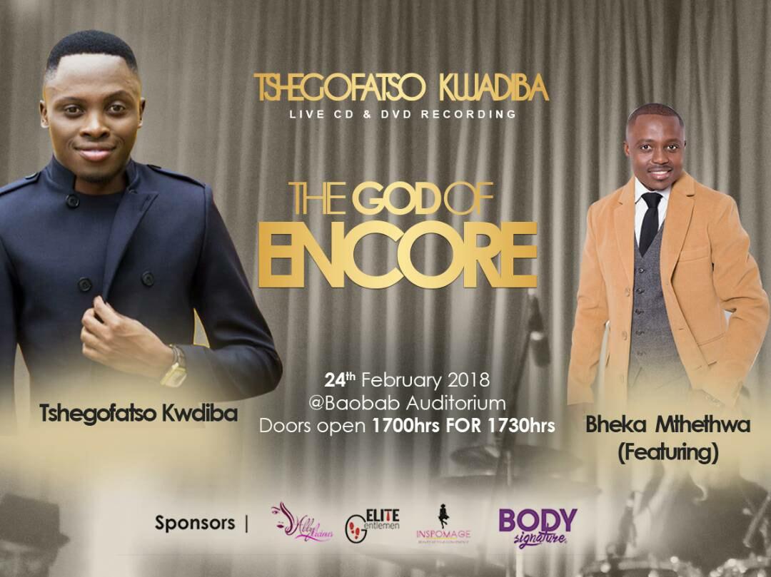 Tshegofatso Kwadiba Live CD & DVD Recording