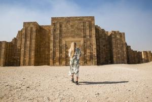 From Cairo: Giza Pyramids, Sphinx, Saqqara, Dahshur & Lunch