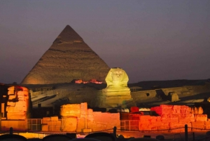 Pyramid Sound and Light Show with Night City Tour