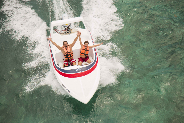 Caribbean Sea Speed Boat Adventure