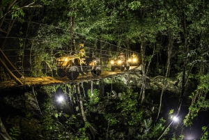 From Cancun/Riviera Maya: Jungle Night Adventure Tour
