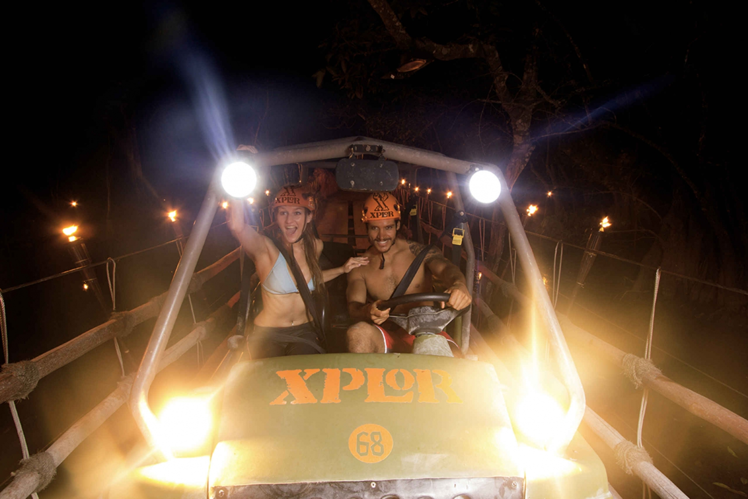 Xplor Fuego Park Night Tickets and Transfer from Cancun