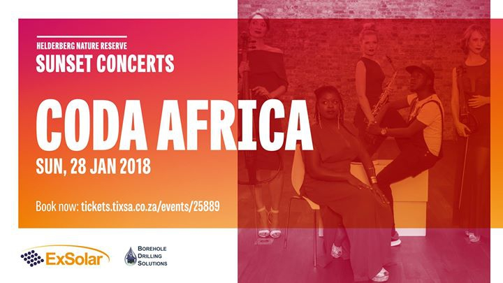 CODA Africa: Helderberg Sunset Concerts Sun, 28th Jan