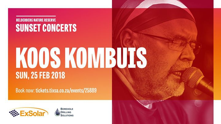 Koos Kombuis: Sunset Concerts Sun, 25th Feb: Afrikaans