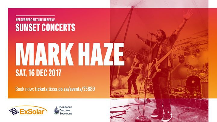 Mark Haze: Helderberg Sunset Concerts Sat, 16th December