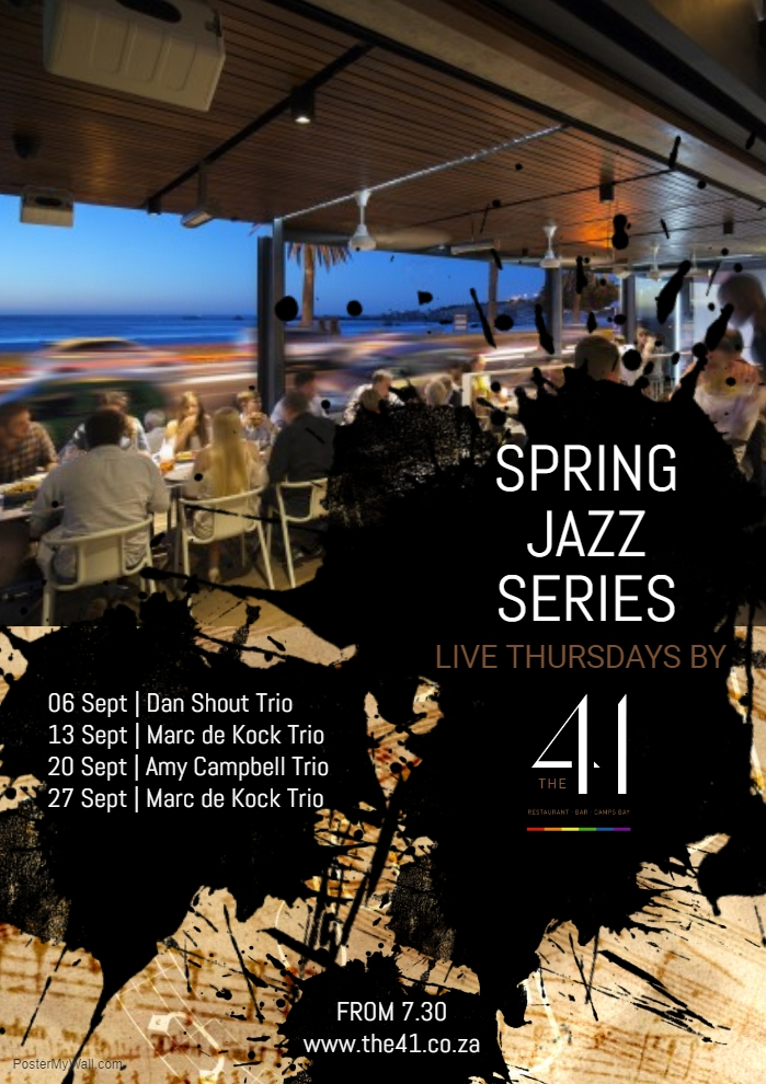 The 41 Spring Jazz Series : Marc de Kock Trio
