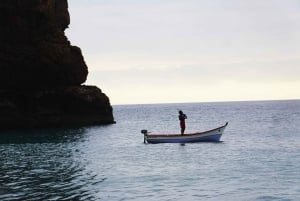From Praia: Boat Trip, Snorkeling, Cave & BBQ on the Beach
