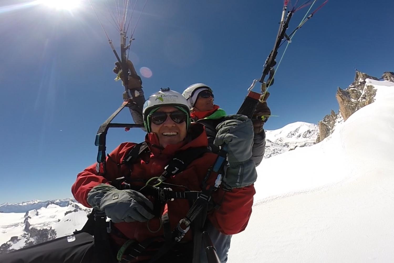 Acrobatic Paragliding over Chamonix & Mont Blanc Range