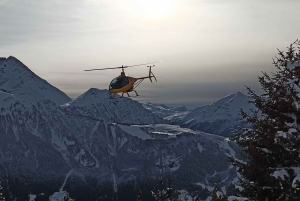 Ultra-Light Helicopter Flight over Chamonix