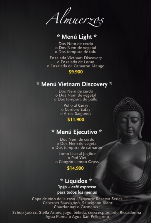 Best Executive Menu in Santiago