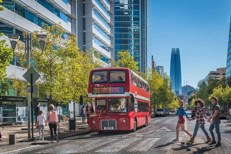 Santiago: Hop-On Hop-Off Bus Tour with Optional Cable Car