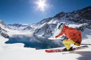 Snowboarding in Portillo, Chile