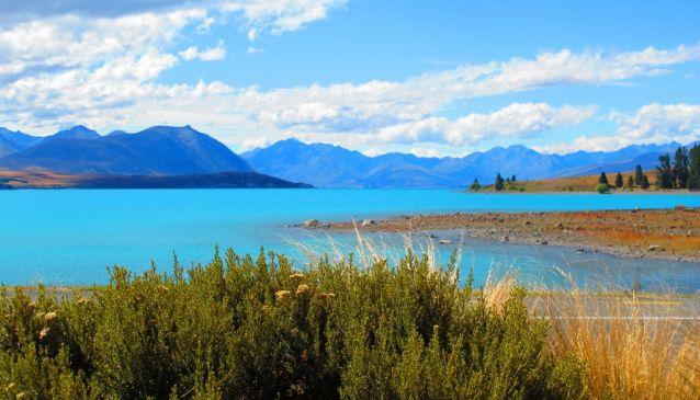 Viewing Blue Sky Country at Lake Tekapo