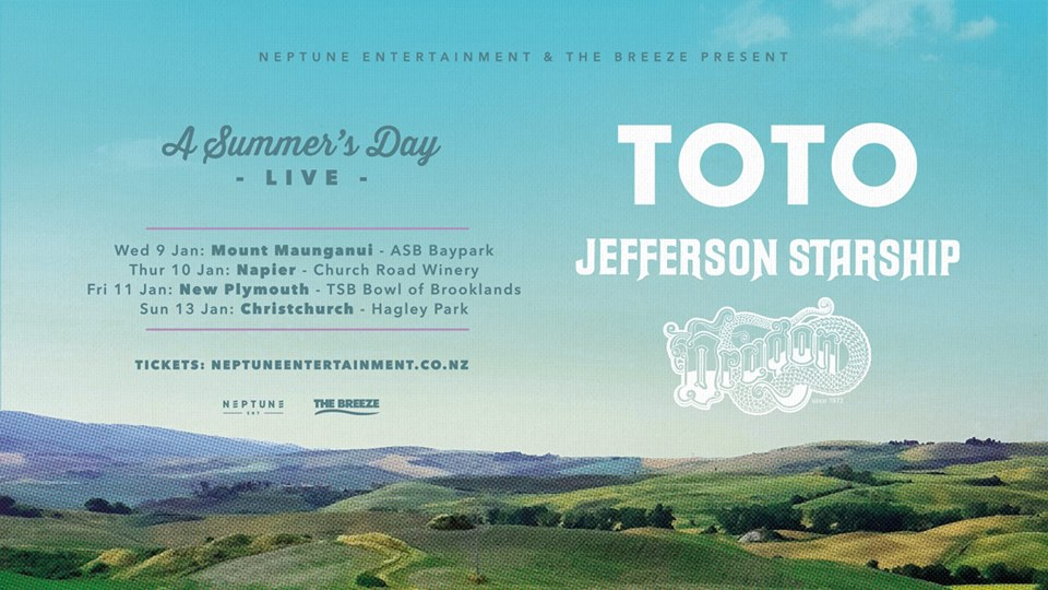 A Summer's Day Live ft. TOTO, Starship & Dragon (Christchurch)