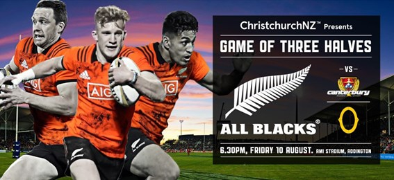 All Blacks v Cantabrians v Otago