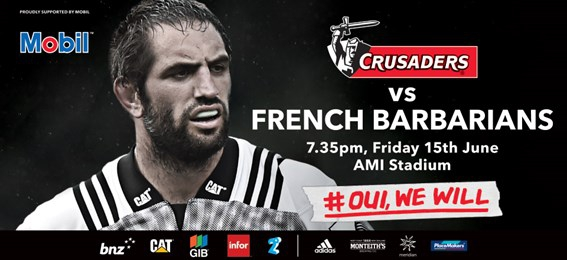 BNZ Crusaders vs French Barbarians