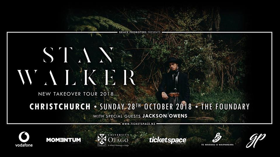 Stan Walker New Takeover Tour - Christchurch